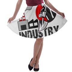 Industry Worker  A Line Skater Skirt by Valentinaart
