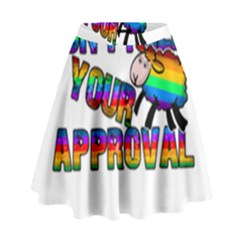 Dont Need Your Approval High Waist Skirt by Valentinaart