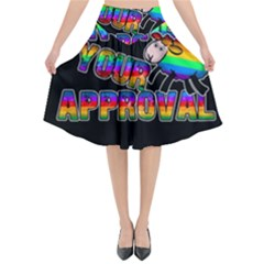 Dont Need Your Approval Flared Midi Skirt by Valentinaart