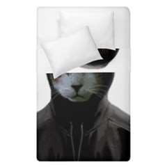 Gangsta Cat Duvet Cover Double Side (single Size) by Valentinaart