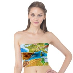 World Map Tube Top