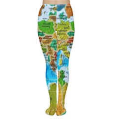 World Map Women s Tights