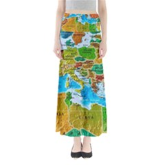 World Map Full Length Maxi Skirt by BangZart