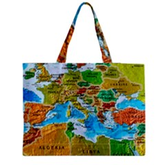 World Map Medium Zipper Tote Bag
