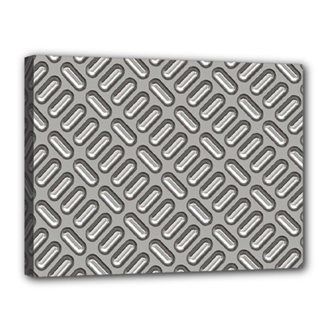 Grey Diamond Metal Texture Canvas 16  X 12