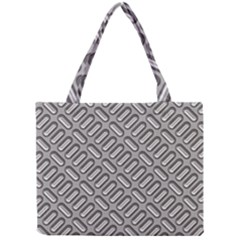 Grey Diamond Metal Texture Mini Tote Bag by BangZart