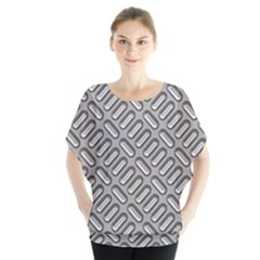 Grey Diamond Metal Texture Blouse