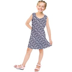 Grey Diamond Metal Texture Kids  Tunic Dress