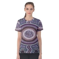 Spirit Of The Child Australian Aboriginal Art Women s Cotton Tee