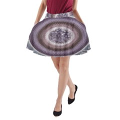 Spirit Of The Child Australian Aboriginal Art A Line Pocket Skirt