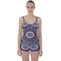 Spirit Of The Child Australian Aboriginal Art Tie Front Two Piece Tankini