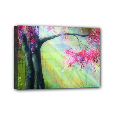 Forests Stunning Glimmer Paintings Sunlight Blooms Plants Love Seasons Traditional Art Flowers Sunsh Mini Canvas 7  X 5  by BangZart