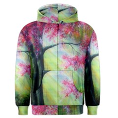 Forests Stunning Glimmer Paintings Sunlight Blooms Plants Love Seasons Traditional Art Flowers Sunsh Men s Zipper Hoodie