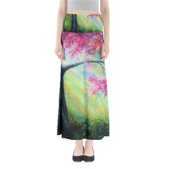 Forests Stunning Glimmer Paintings Sunlight Blooms Plants Love Seasons Traditional Art Flowers Sunsh Full Length Maxi Skirt by BangZart