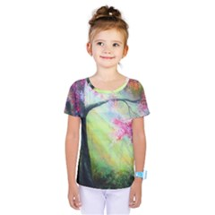 Forests Stunning Glimmer Paintings Sunlight Blooms Plants Love Seasons Traditional Art Flowers Sunsh Kids  One Piece Tee