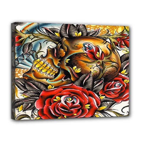 Flower Art Traditional Canvas 14  X 11  by BangZart