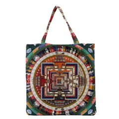 Colorful Mandala Grocery Tote Bag