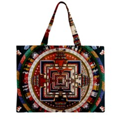 Colorful Mandala Zipper Mini Tote Bag