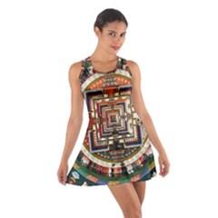 Colorful Mandala Cotton Racerback Dress
