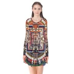 Colorful Mandala Flare Dress