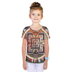 Colorful Mandala Kids  One Piece Tee