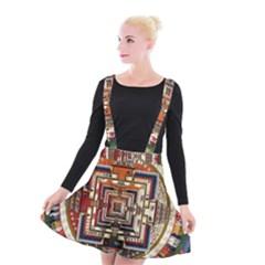 Colorful Mandala Suspender Skater Skirt