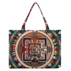 Colorful Mandala Medium Zipper Tote Bag