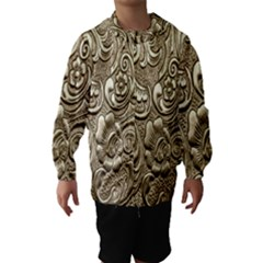 Golden European Pattern Hooded Wind Breaker (kids)