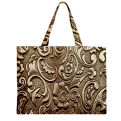 Golden European Pattern Medium Zipper Tote Bag by BangZart