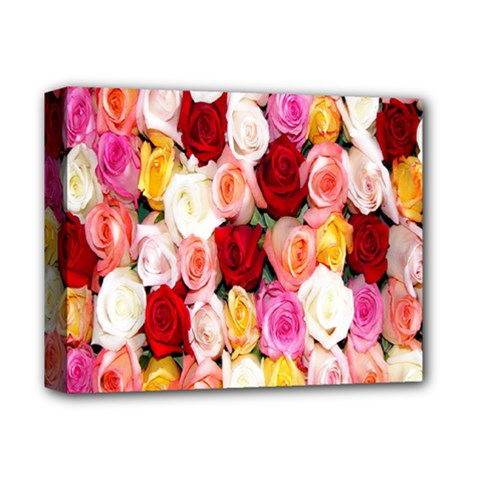 Rose Color Beautiful Flowers Deluxe Canvas 14  X 11  by BangZart