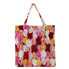 Rose Color Beautiful Flowers Grocery Tote Bag