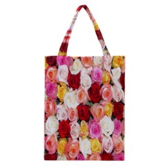 Rose Color Beautiful Flowers Classic Tote Bag
