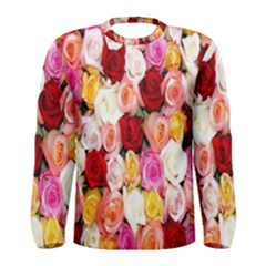 Rose Color Beautiful Flowers Men s Long Sleeve Tee
