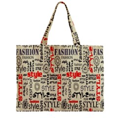 Backdrop Style With Texture And Typography Fashion Style Zipper Mini Tote Bag