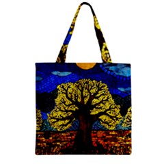 Tree Of Life Zipper Grocery Tote Bag by BangZart