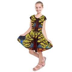 Tree Of Life Kids  Short Sleeve Dress
