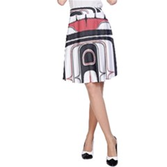 Ethnic Traditional Art A Line Skirt