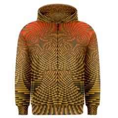 Fractal Pattern Men s Zipper Hoodie