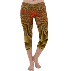 Fractal Pattern Capri Yoga Leggings