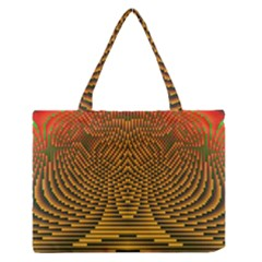 Fractal Pattern Medium Zipper Tote Bag