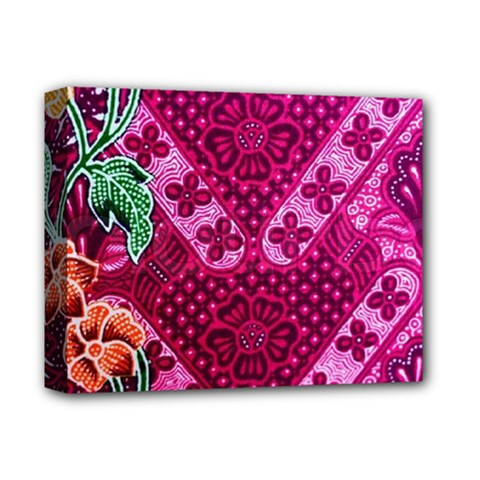 Pink Batik Cloth Fabric Deluxe Canvas 14  X 11