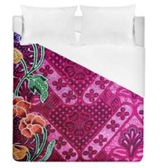 Pink Batik Cloth Fabric Duvet Cover (queen Size)