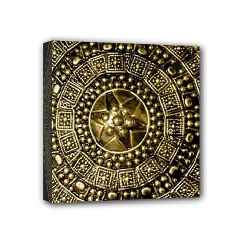 Gold Roman Shield Costume Mini Canvas 4  X 4  by BangZart