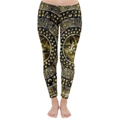 Gold Roman Shield Costume Classic Winter Leggings