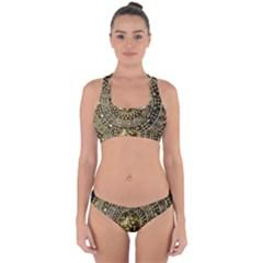 Gold Roman Shield Costume Cross Back Hipster Bikini Set