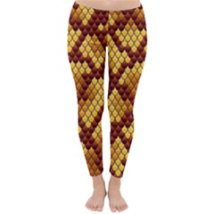 Snake Skin Pattern Vector Classic Winter Leggings by BangZart