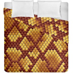 Snake Skin Pattern Vector Duvet Cover Double Side (king Size) by BangZart