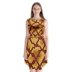 Snake Skin Pattern Vector Sleeveless Chiffon Dress