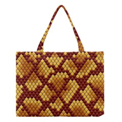 Snake Skin Pattern Vector Medium Tote Bag