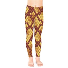 Snake Skin Pattern Vector Kids  Legging